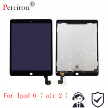 Новый 9,7 «для Apple ipad Air 2 ipad 6 A1567 A1566 Полный ЖК-Дисплей с Сенсорный экран планшета Панель сборки выполните
