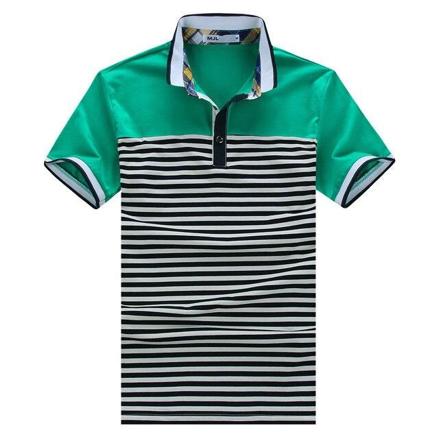 Polo new 2017 In the summer of 15 new men's casual cotton collar men's cotton short-sleeved striped Polo shirt lapel behalf polo