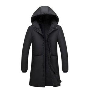 Image 1 - Russia 90% piume danatra bianca giù lungo giacche degli uomini di Inverno lungo parka Impermeabile antivento con cappuccio del cappotto maschile di Alta qualità addensare cappotti