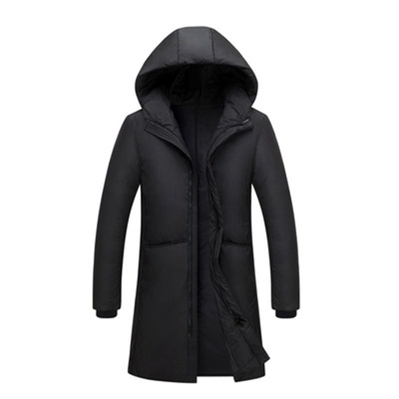 Russia 90% white duck down long jackets men Winter long parkas Waterproof windproof hooded coat male High quality thicken coats-in Down Jackets from Men's Clothing