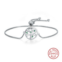 100 925 Sterling Silver Egyptian Ankh Cross Clear Cubic Zirconia Chain Link Bracelet Classic Authentic Silver