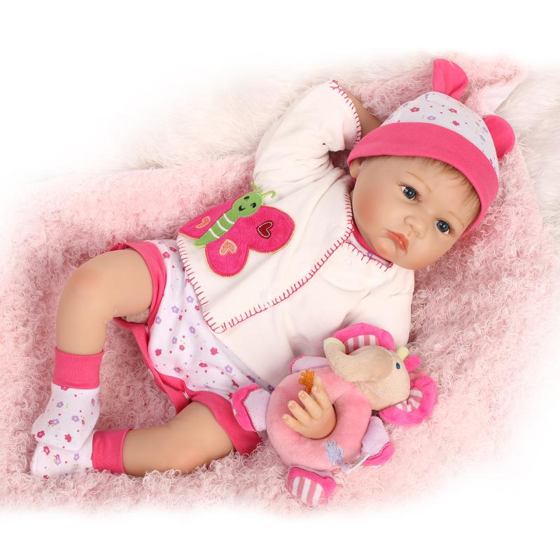 """17/"""" Beautiful Baby Dolls Soft Silicone Vinyl Cuddle Reborn Elephant Outfit Doll"""