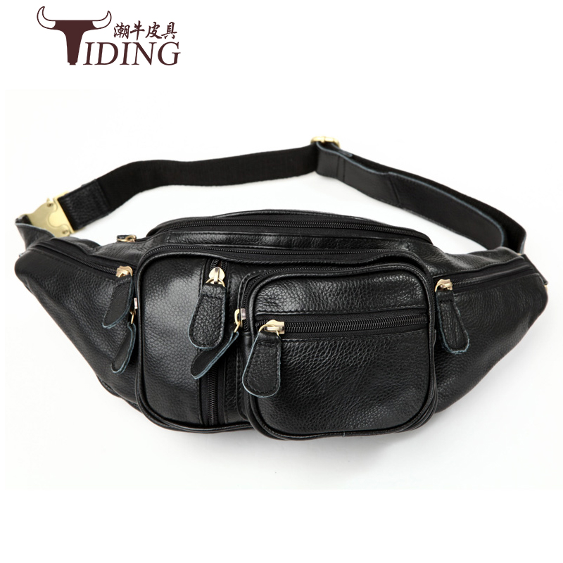 man waist bags cow leather 2017 new fashion brand business men casual vintage travel genuine leather black waist pack bags dhl free shipping brand clothing cow leather long jackets men s genuine leather black casual jacket fashion classics