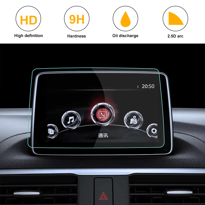 font b Car b font Styling GPS Navigation Screen Tempered Steel Protective Film for Mazda