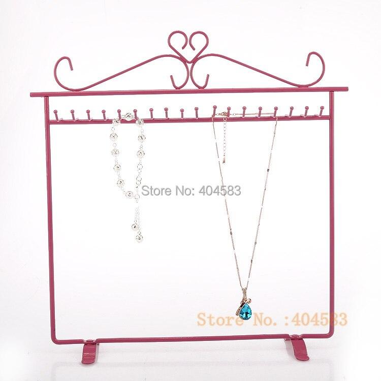 Single Layer 20 Hook Necklace Bracelet Hanger Holder Stand Organizer
