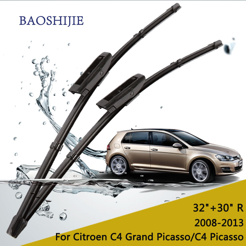 wiper blades for Citroen C4 Grand Picasso (2008-2013) 32+30R fit bayonet type wiper arms only HY-015