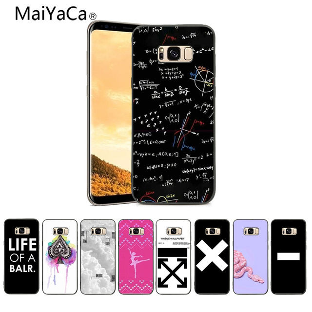 Maiyaca Mathematical Symbols Pattern Tpu Soft Phone Case Cover For
