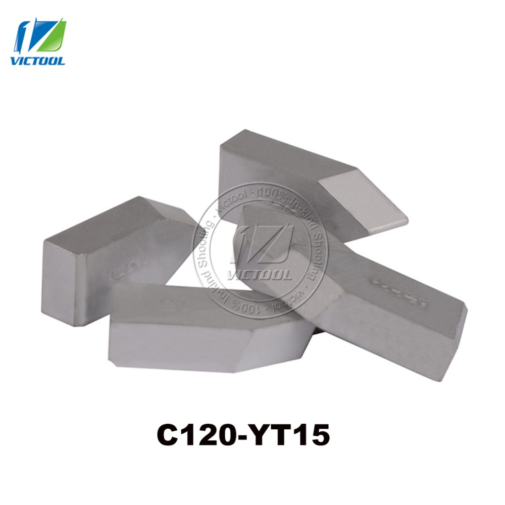 10pcs/lot C120 YT15 Tungsten Brazed Tips Carbide Inserts Threading Turning Tools & Turning Tools For The Finishin Peripheries