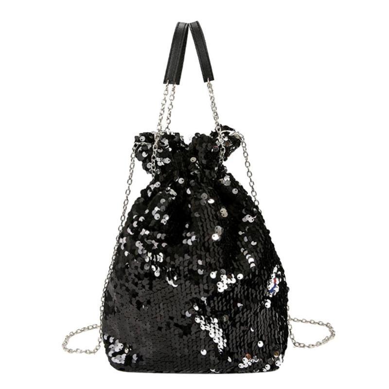 Mini Sequin Bagpack Women Sac a Main Shoulder Chain Bag Messenger Diagonal  Chain Bag Evening Party 2e6759a806ea