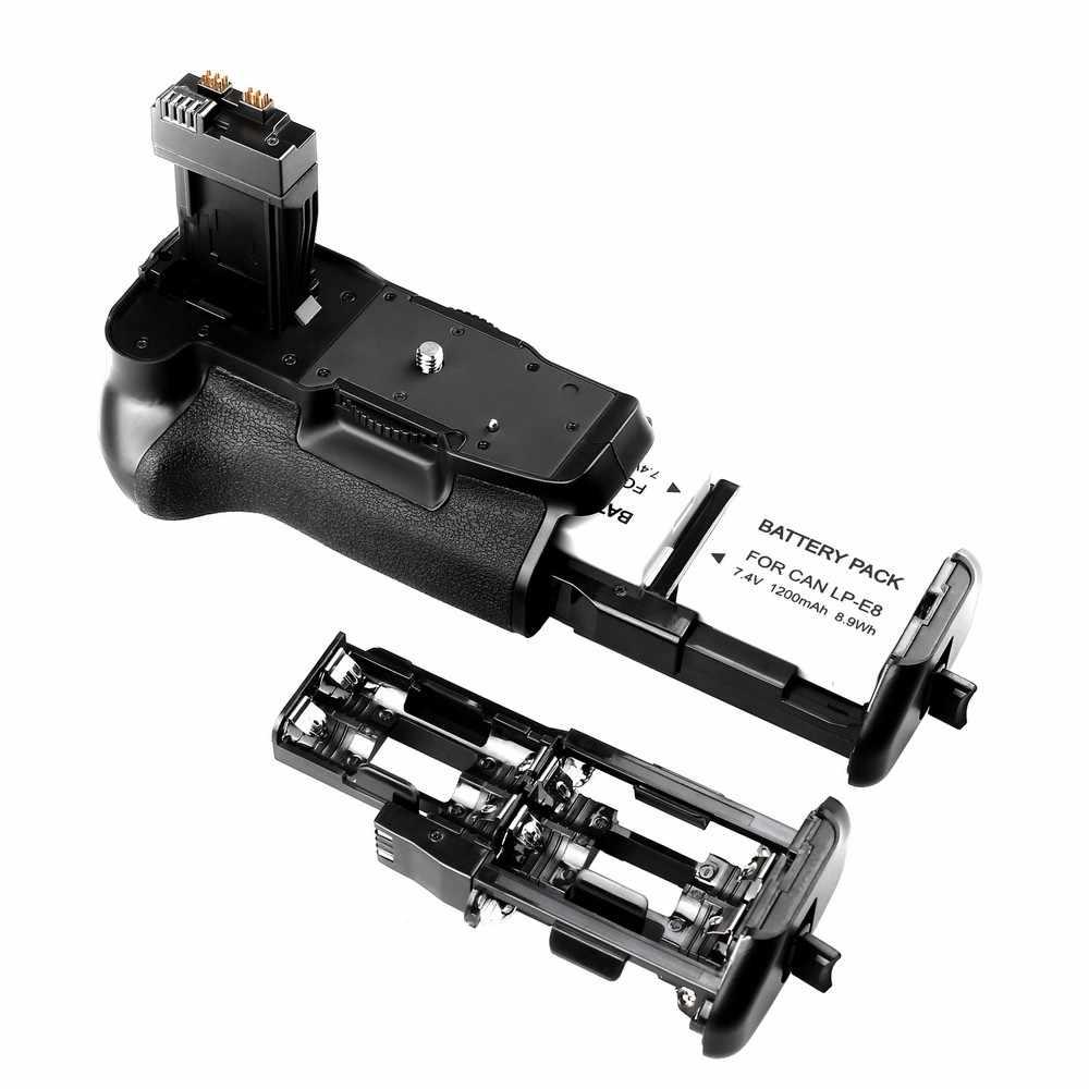 Travor профессиональная Батарейная ручка для Canon EOS 550D 600D Rebel T2i T3i T5i T4i DSLR камер как BG-E8 + 2 шт LP-E8 + 2 шт ткань для объектива