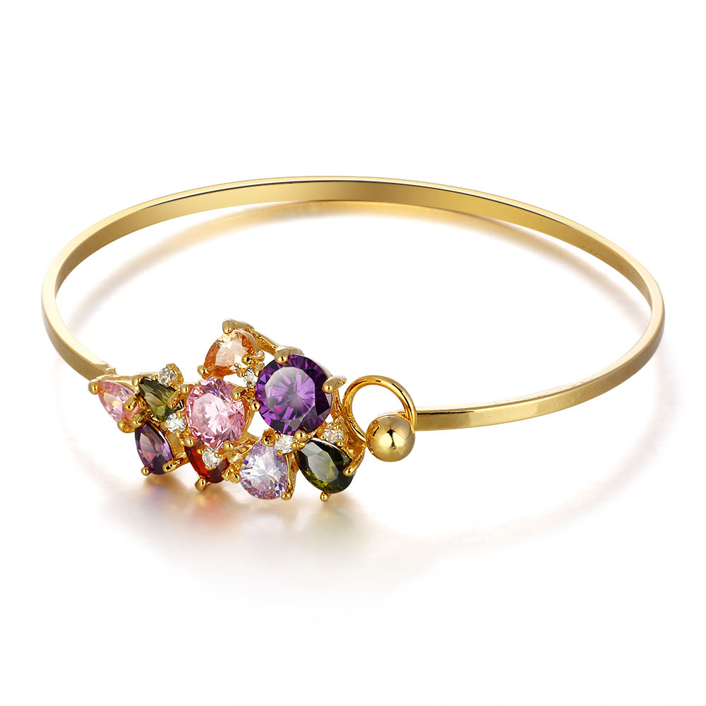 New fashion jewelry, 18K gold-plated bracelet, high quality zircon bracelet, Ms. Mona Lisa bracelet wholesale, free shipping