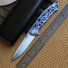 Dicoria Ben OEM Dmitry Sinkevich Custom Flipper folding knife D2 blade TC4 Titanium camping hunting pocket fruit knives EDC tool