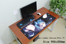 Hatsune Miku 900x300x3mm anime mouse pad gaming mousepad gamer mouse mat pad game computer locrkand padmouse laptop play mats