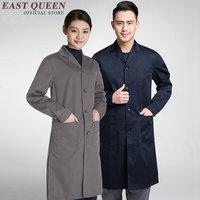 Work Wear Uniforms Women Men Black White Lab Coat Medical Clothing High Quality Lab Supplies KK098