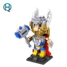 Mini Nano Blocks Super Heroes LOZ Building Blocks Thor Action Figure Diamond Blocks Compatible Legoelieds 9448