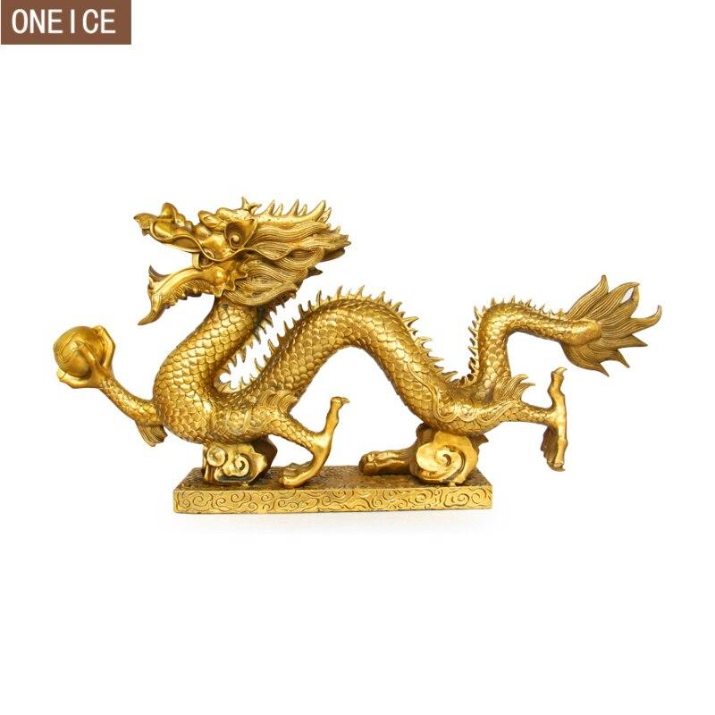Скульптура дракона в китайском стиле, высокое качество, латунь, фэн шуй, украшение для дома, интимные аксессуары, Статуя Дракона
