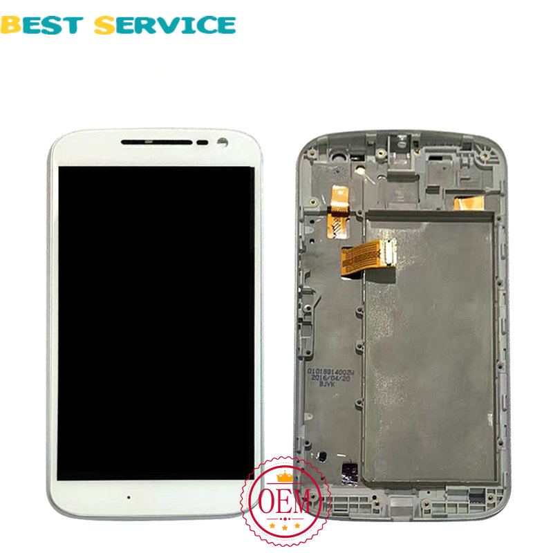 For Motorola Moto G4 LCD Display + Touch Screen Digitizer Assembly with Frame Black White Colors + Tools Free Shipping new original lcd replacements for motorola moto g xt1032 xt1033 lcd display touch digitizer screen with frame assembly tools