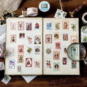 Image 2 - 8PCS/LOT retro Post Office series sticker DIY sticker paper decorative tape masking tape washi tape