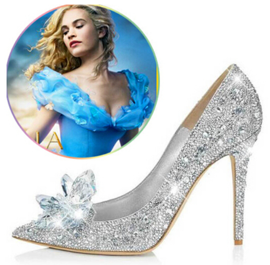 4b7bcf444f1def Newest cinderella primiere stunning glasses shoes bling bling silver  crystal wedding pumps high heel jeweled glittering shoes