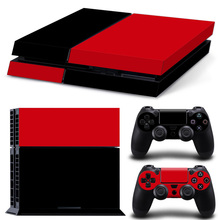 Free drop shipping black and Red Background New Vinyl Skins Sticker for Sony PS4 Skins Cover skin sticker #TN-PS4-5106