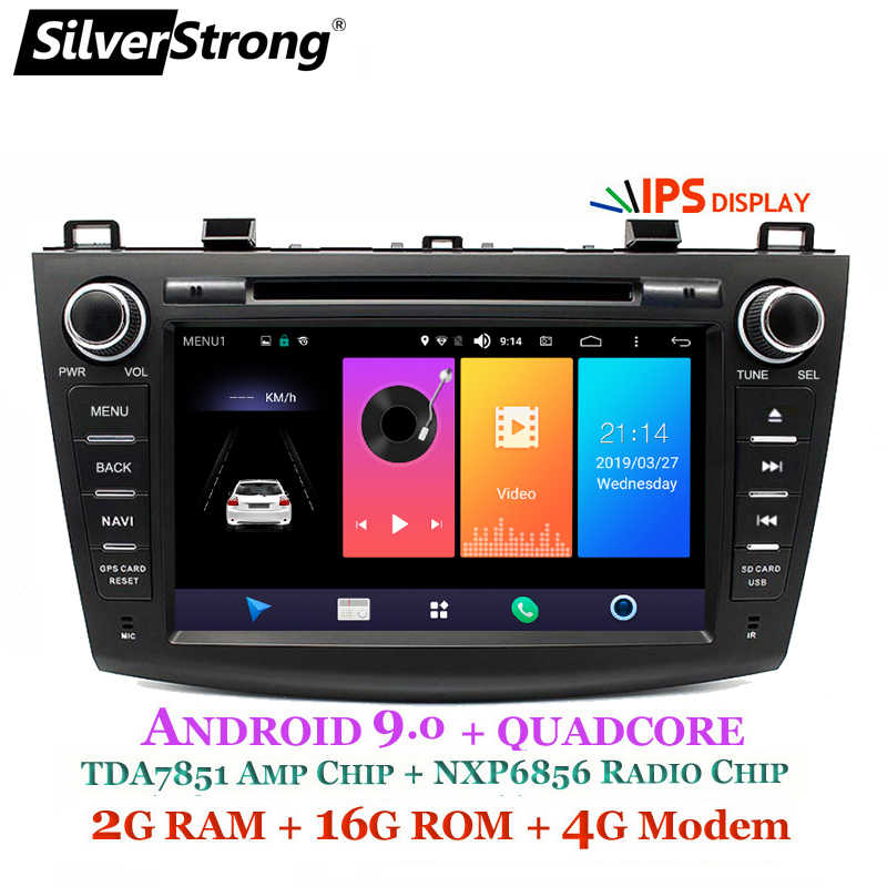 SilverStrong 4G Modem Android 9.0 Car DVD For Mazda 3 Axela 4G SIM Car Multimedia Mazda 3 Bluetooth 4.0 WIFI Option TPMS
