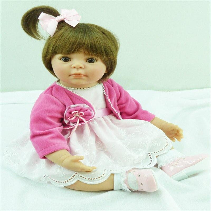 20 pouce 50 cm reborn poupées de Silicone, réaliste poupée reborn bébés jouets Petit manteau mignon fille