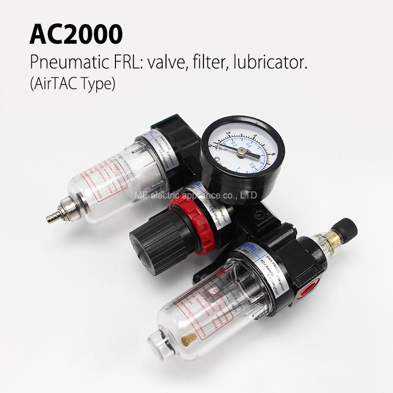 AC2000 Pneumatic FRL 1/4 Air Service Unit(Air TAC TYPE ) Pressure Reducing Valve Atomized Lubricator pneumatic frl air filter regulator ac2000 1 4 inch air service unit air tac type pressure reducing valve atomized lubricator