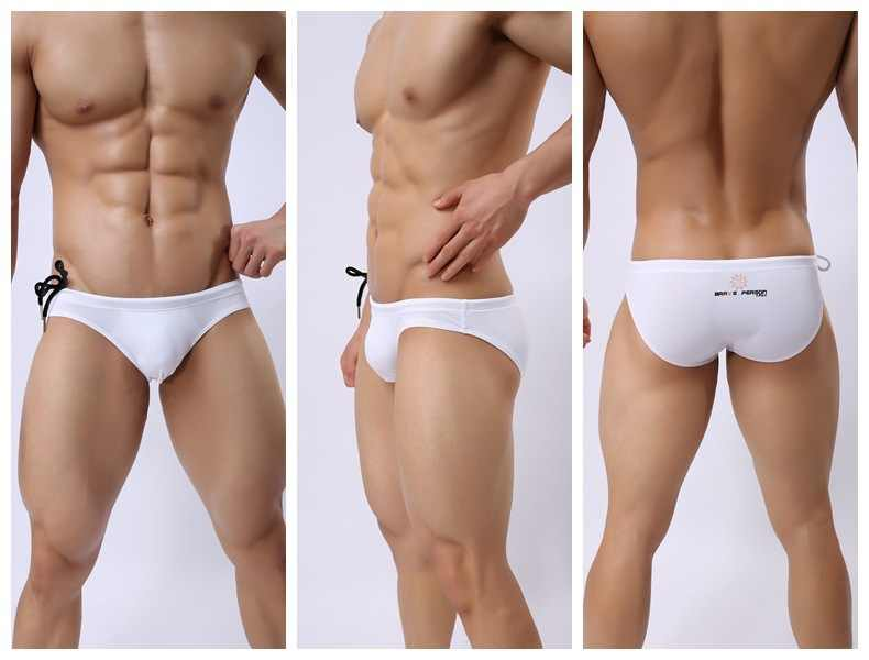 834ee31f05e ... New Low Rise Swimwear Men Swim Briefs Sexy Bulge Pouch Swimming  Swimsuits for Man Beach Pool ...