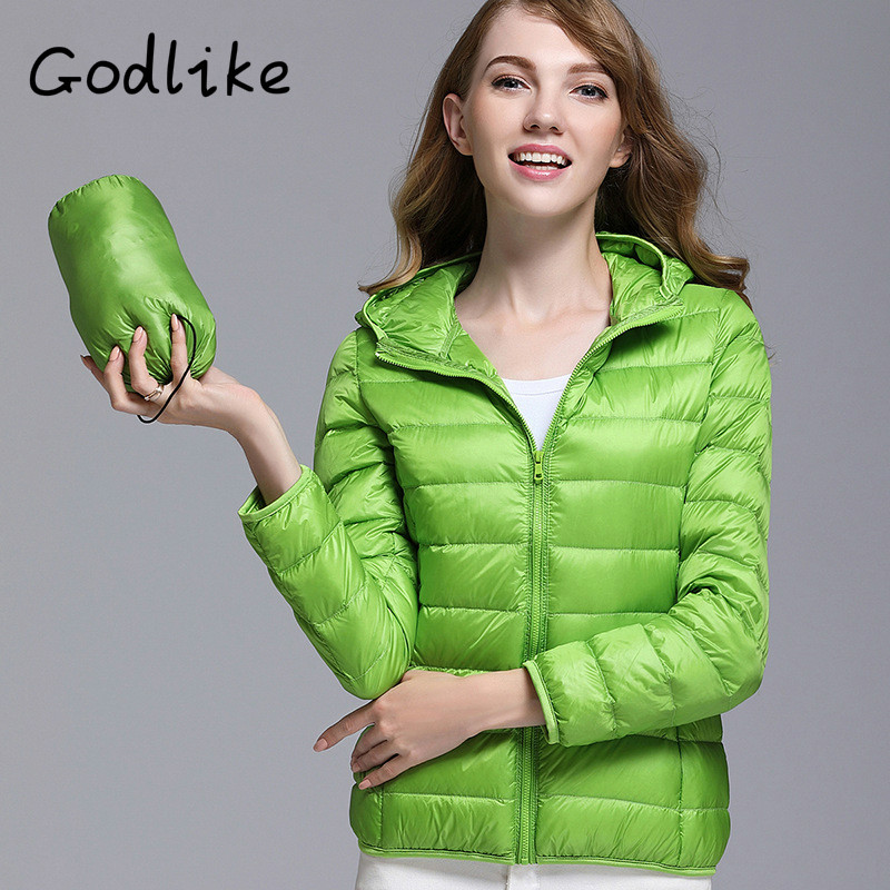GODLIKE  2017pure color ladies trendy winter coat/fashionable casual down jacket/Pure color, lightweight jacket