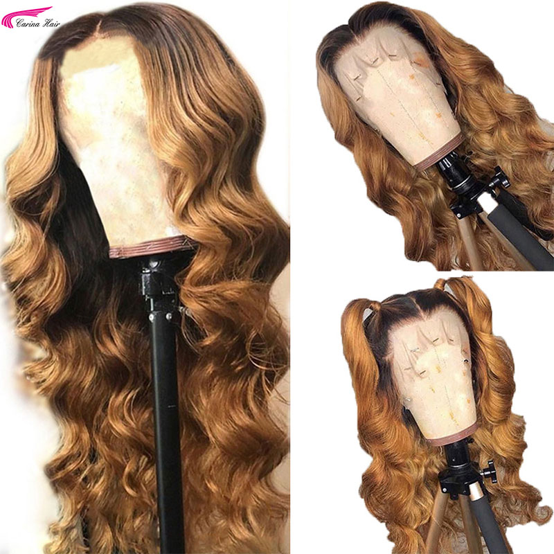 Carina Brazilian Body Wave Lace Front Human Hair Wig With Baby Hair PrePlucked Hairline Remy Hair
