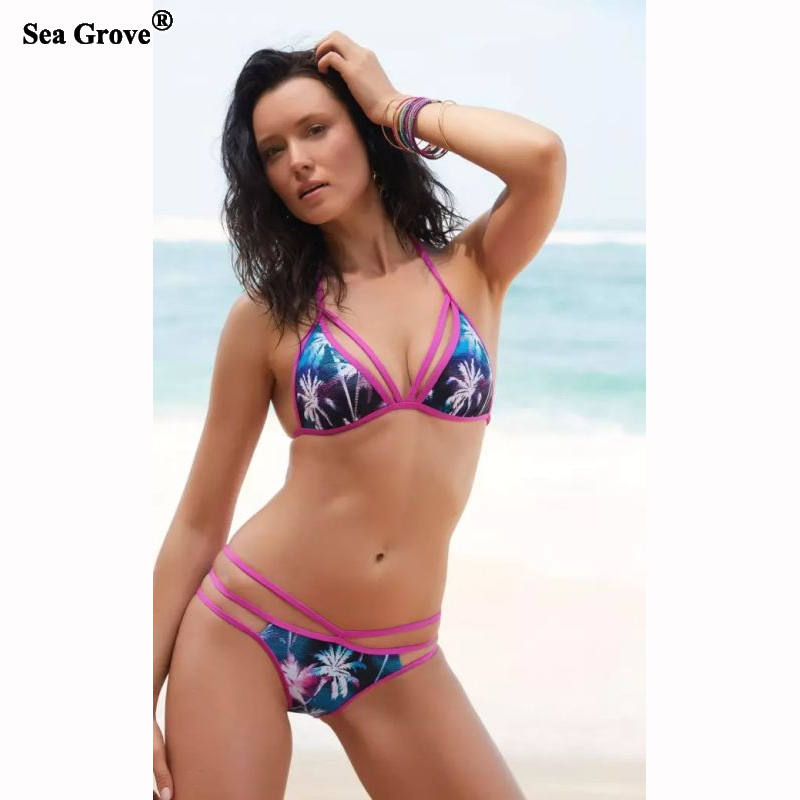 2017 bikinis women Swimsuit Printed Women Bikini Set Swimsuit women s swimming suit plus size 3