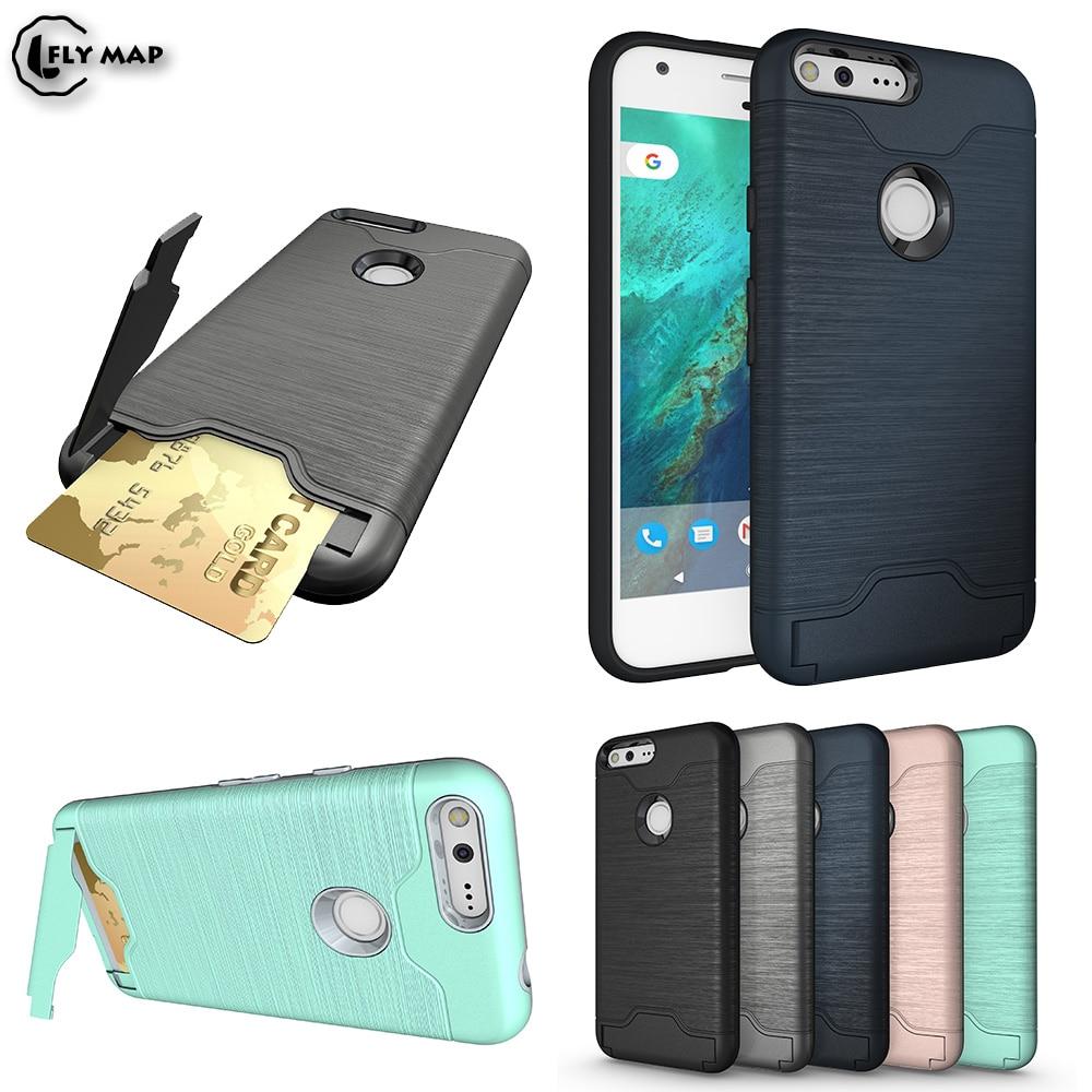 Скрытая слот для карт чехол для телефона для Google Pixel 1 Nexus S1 Броня кредитной карты Телефон задняя крышка для htc парусник черный бампер Coque