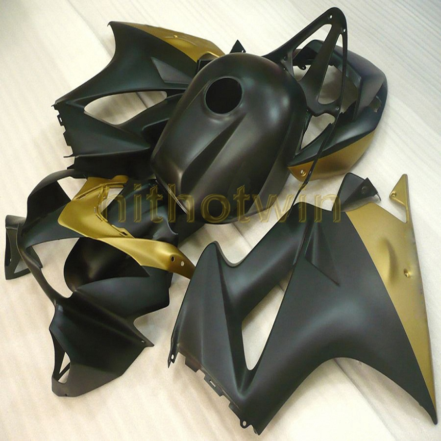 5Gifts Custom black gold motorcycle cowl for HONDA 2002 2003 2004 2005 2006 2007 2008 2012