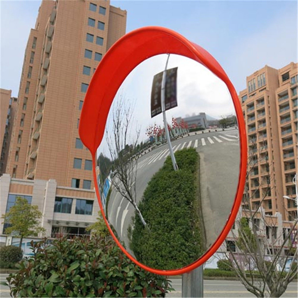 30 Cm Wide Angle Security Curved Convex Road Mirror Traffic Driveway Traffic Signal Roadway Safety