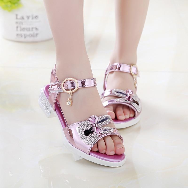 2016 new summer baby girl's shoe princess sandals children ...