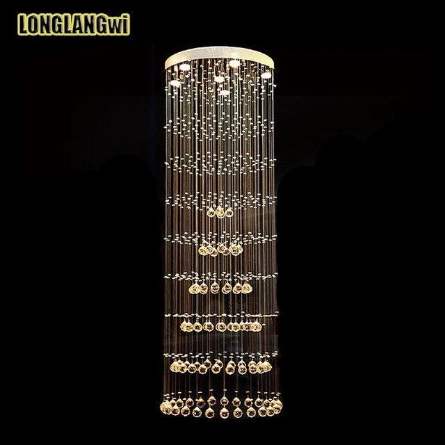 moderne led k9 kristall kronleuchter leuchte doppeltreppe led pendelleuchte fr foyer esszimmer kronleuchter beleuchtung - Kronleuchter Fur Foyer