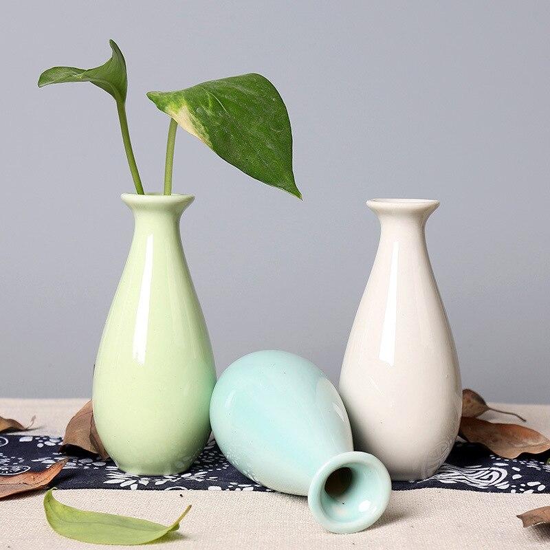 Творческий Простой Керамика Вазы Office для дома настольные украшения сухих цветов Керамика S ремесла украшения Ваза