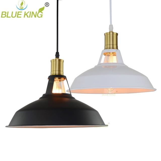 Industrial Barn Mini Metal Pendant Light E27 Edison Bulb American Country Copper Base Pendant Lamp Fixture