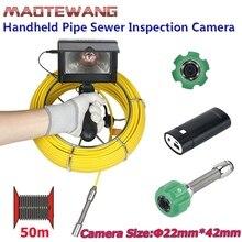 MAOTEWANG 4,3 дюймов 22 мм портативная промышленная труба канализационная инспекционная видеокамера IP68 водонепроницаемая 1000 TVL камера с 6W LED
