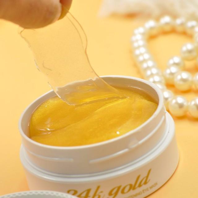 30 Par/bolsa Negro Perla y Oro Máscara de Ojos Anti-ojeras Desvanecimiento Bolso Del Ojo Antiarrugas Hidratante Ojeras Crema para Los Ojos hidratante