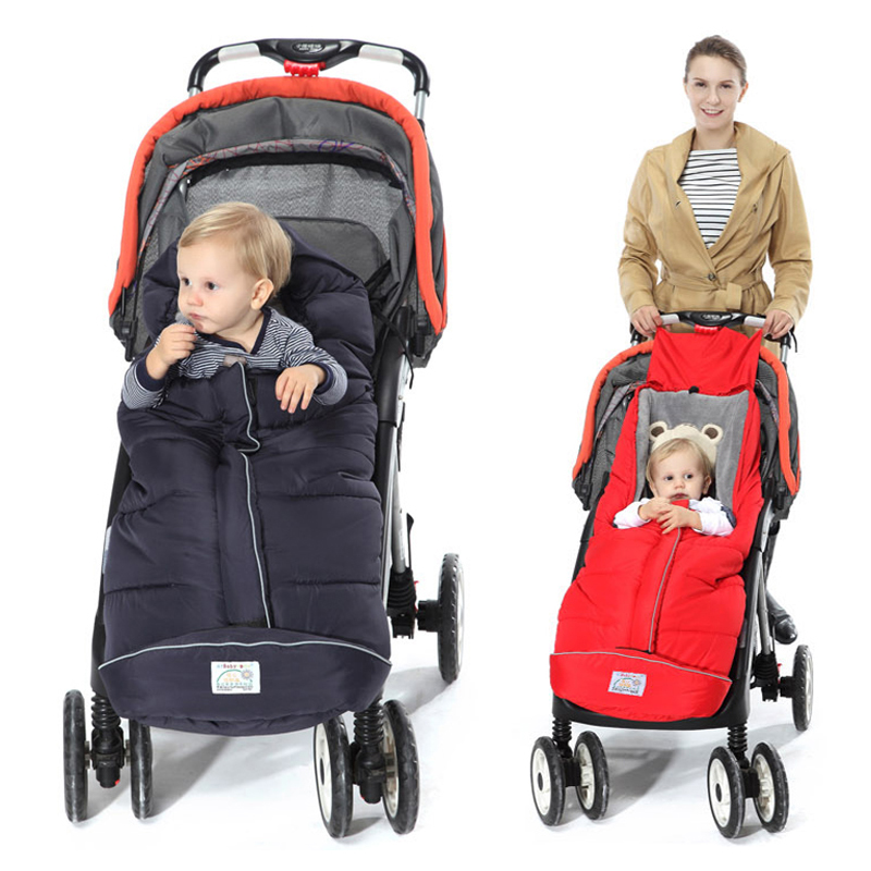 Winter Baby Sleeping Bag For Stroller Warm Envelop Sack With Footmuff For Wheelchair Newborn Soft Windproof Cocoon For Pram