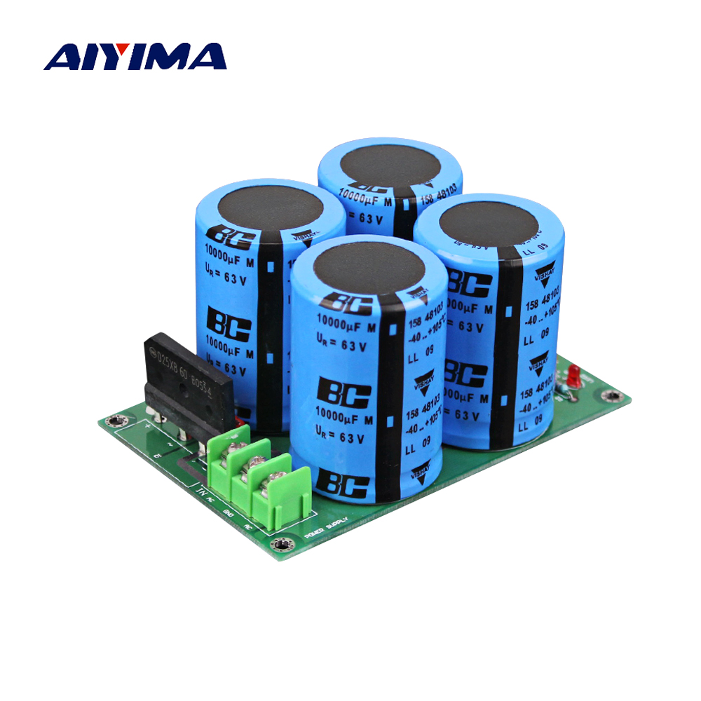 Aiyima Assembled Rectifier filter board Power Board High Power Rectifier Filter Power Supply Board 10000uf 63V спот citilux cl531521