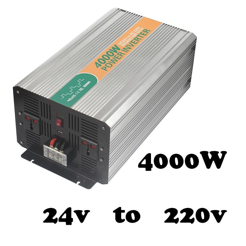 4000W  modified sine wave off grid power inverter dc 24v to ac 220v power bright power inverter peak 8000w inverter 4000w