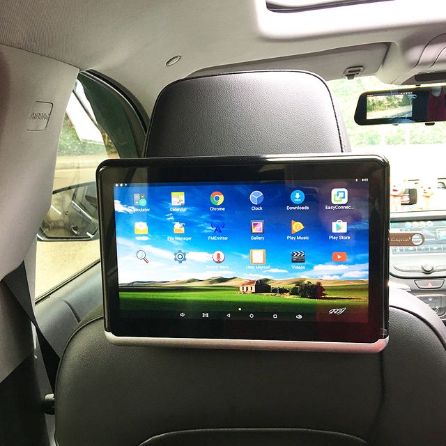 Android 6.01 4500mA battery Car Headrest Monitor 1PCS 1080 HD with WIFI Bluetooth USB SD Card Without DVD Player