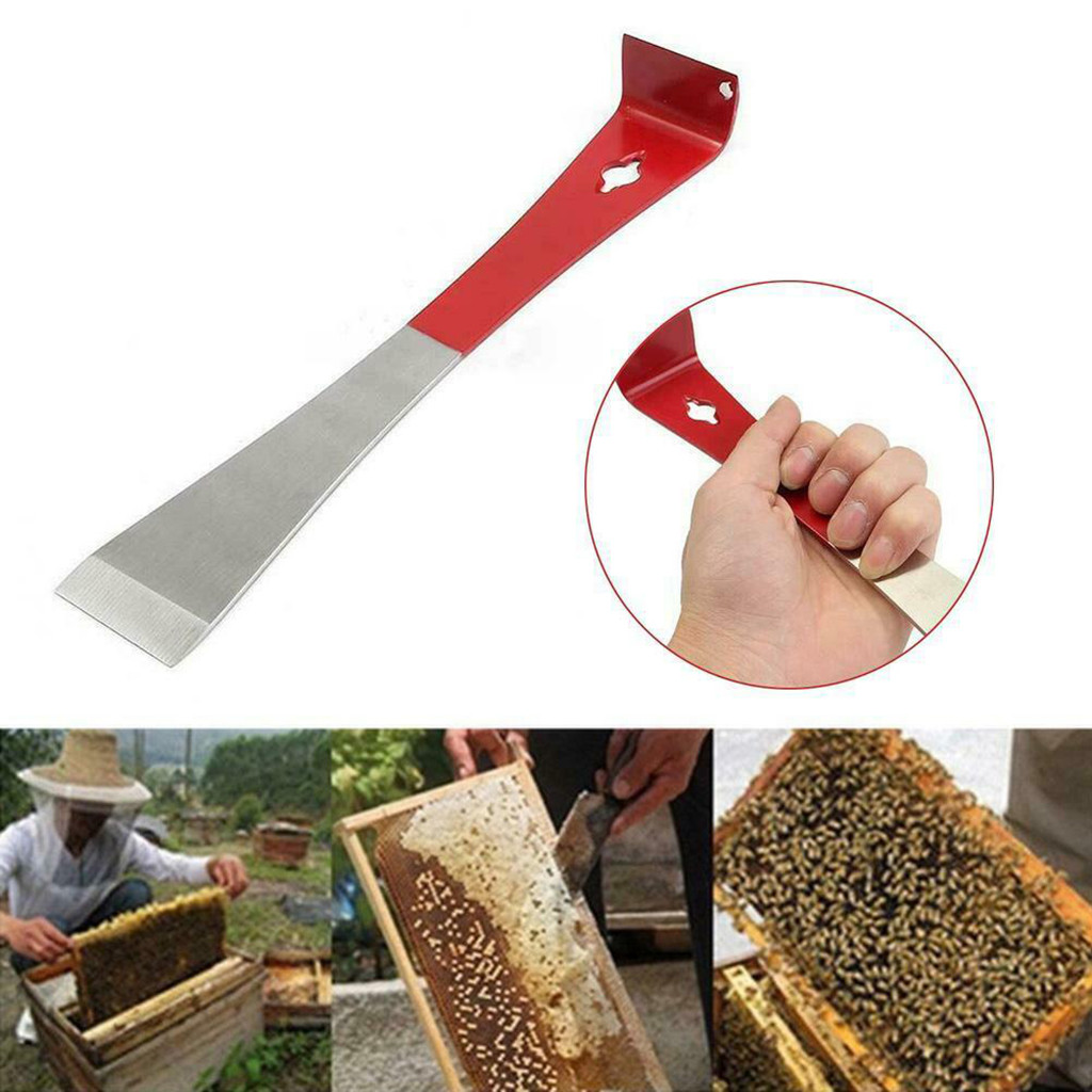 Blisstime Stainless Frame Lifter and Scraper J Hook Tool Hive Tool Beekeeping Equipment J Shaped:11 inch