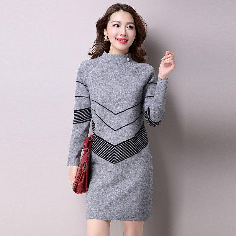 2017 Korean Fashion Women Autumn Winter Warm Knitted ...