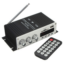 USB Mini Super Bass Stereo Audio Car Power Amplifier USB DVD CD with FM MP3 Remote Controller