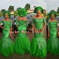 Estilo Nigeriano Long Green Vestidos De Noche Abendkleider Sirena Africano Aso Ebi de Encaje Vestidos Formales 2017 de la Nueva Llegada Por Encargo