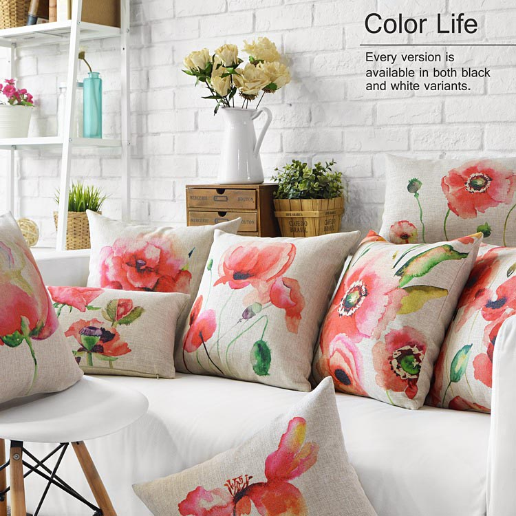 custom made flowers pattern cushions home decor european american style home pillow decoration french tulip sofa