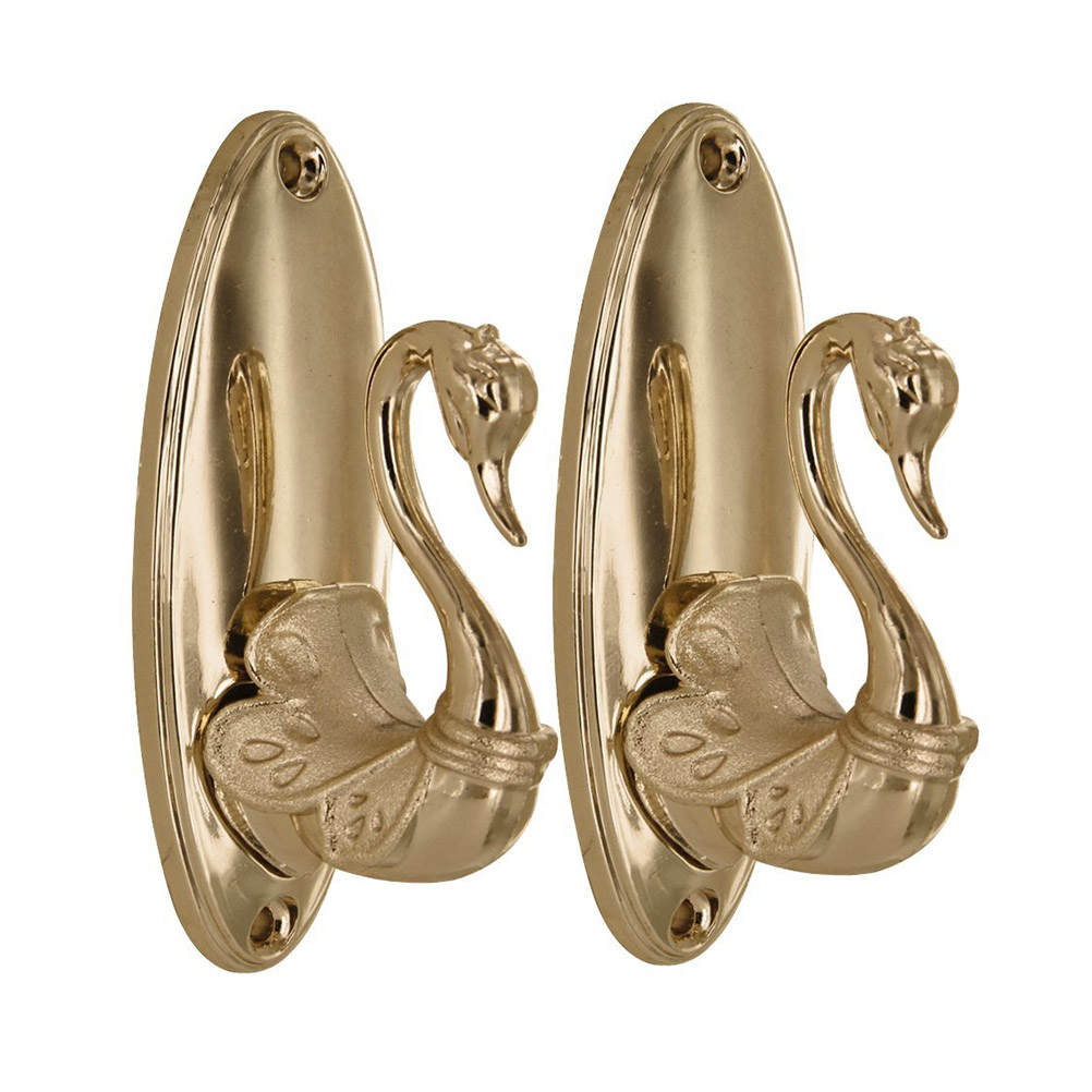 Antique Bronze Curtain Tie Backs Us 14 71 Pair Of Vintage Swan Style Drapery Curtain Holdbacks Tieback Hooks Curtain Tiebacks Holdback Hooks In Curtain Decorative Accessories From